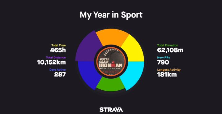 2017 Strava year in review