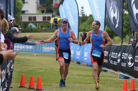 The Starfish Tri Athletic coaches finishing it off!