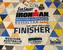 The finisher's towel, minus the swim ;-)