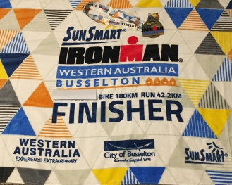 The finisher's towel, minus the swim ;-)
