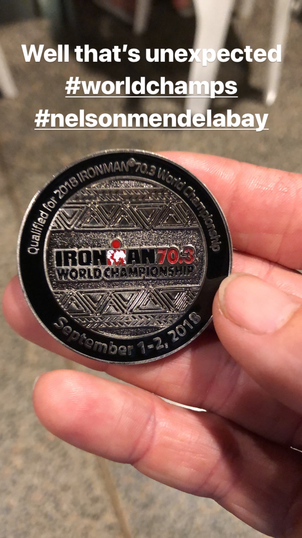 Ironman 70.3 World Championship Qualifier Medal
